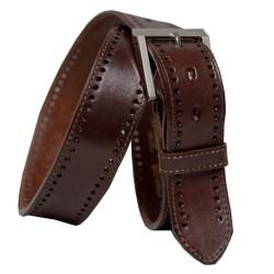 Cinturón Dilop cosido perforado 40 mm